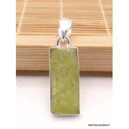 Pendentif Cyanite verte brute serti clos Pendentifs pierres naturelles PAC13.3