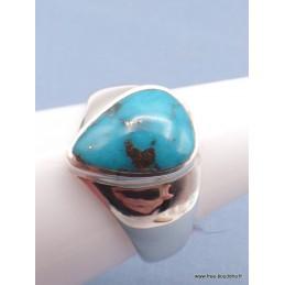 Chevalière pour Homme en Turquoise avec pyrite taille 63 Bagues pierres naturelles XV94.3