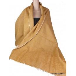 Châle laine de Yak Moutarde CPLY67