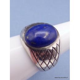 Bague Chevalière pour Homme en Lapis Lazuli Bagues pierres naturelles KB21