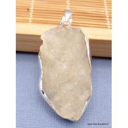 Verre de Lybie pendentif asymétrique argent 925 Pendentifs pierres naturelles PAC50.3