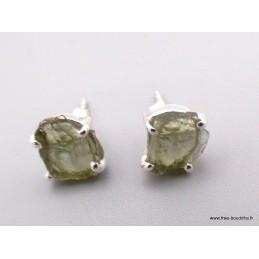 Clous d'oreilles en Moldavite Bijoux en Moldavite XV122