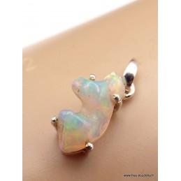 Pendentif Opale Ethiopienne brute polie verte orange Bijoux en Opales XV123.3