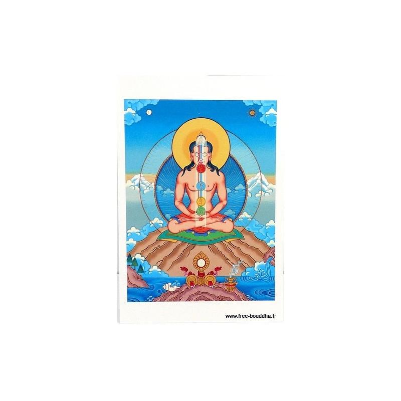 Carte postale bouddhiste SEPT CHAKRAS CPB32