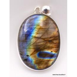 Labradorite multi-feux bleue jaune orange bleue Pendentifs pierres naturelles TUV27.5