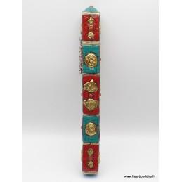 Porte-encens tibétain bouddhiste serti de pierres PETCY2