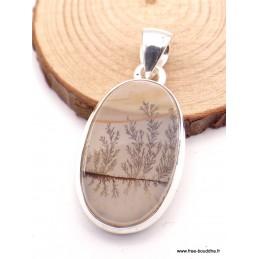 """Petit pendentif Agate Scenique """"arbres"""" Pendentifs pierres naturelles XV29.3"""