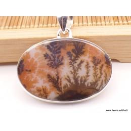 Pendentif Agate Scénique marron rouille Pendentifs pierres naturelles XV29.5