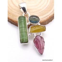 Pendentif Designer Tourmaline, Apatite et citrine Pendentifs pierres naturelles XV125
