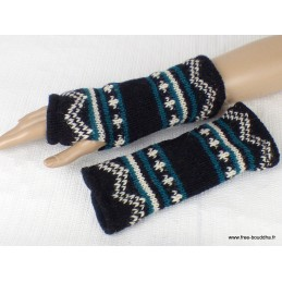 Mitaines gants sans doigts en laine homme femme MIT8