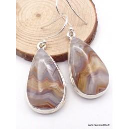 Boucles d'oreilles Agate Laguna forme goutte Boucles d'oreilles en pierres XV127.7