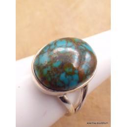 Bague Turquoise du Tibet ovale taille 60/61 Bagues pierres naturelles XV128