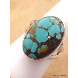 Bague Turquoise du Tibet deux anneaux taille 59 Bagues pierres naturelles XV128.4