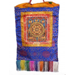 Tangka tibétain Roue du Dharma TANRV2