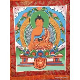 Tangka bouddhiste Bouddha Sakyamouni 40 x 70 cm (thangka) TANBSA2