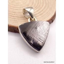 Petit Pendentif Shungite triangulaire Pendentifs pierres naturelles PAC78.6
