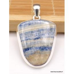 Pendentif semi-oval en Scheelite bleue Pendentifs pierres naturelles XV134
