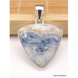 Pendentif Scheelite bleue triangulaire Pendentifs pierres naturelles XV134.2