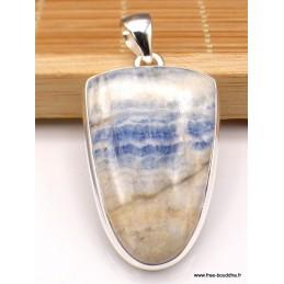 Grand Pendentif Scheelite bleue semi-oval Pendentifs pierres naturelles XV134.3