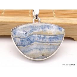 Pendentif Scheelite bleue semi-rond Pendentifs pierres naturelles XV134.4