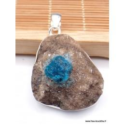 Pendentif en Cristal de Cavansite sur roche mère Pendentifs pierres naturelles WL65.5