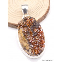 Pendentif Cristal de Vanadium oval Pendentifs pierres naturelles PU5