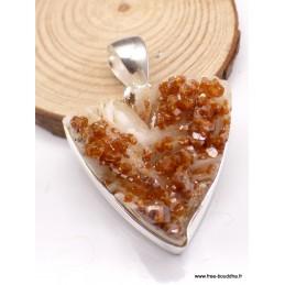 Pendentif Cristal de Vanadium triangulaire Pendentifs pierres naturelles PU5.1