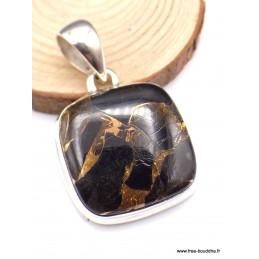 Pendentif carré en Cuivre Noir Pendentifs pierres naturelles PU9