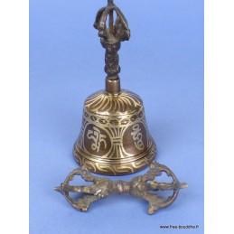 Cloche tibétaine et dorjé 12 cm CLO5