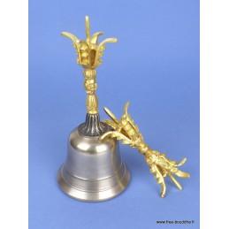 Grande cloche tibétaine et dorjé 20 cm CLO6