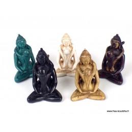 Mini statuette bouddhiste Shakti coloris divers MINISHA1