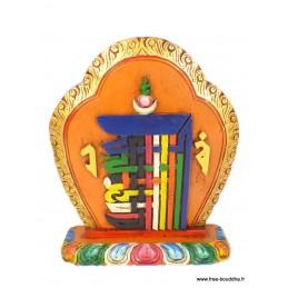Sculpture bouddhiste sur bois KALACHAKRA SCULP1