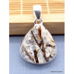 Pendentif Astrophyllite brute forme goutte Pendentifs pierres naturelles PU13.1