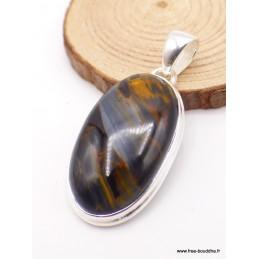 Pendentif Pietersite qualité AAA gris fauve Pendentifs pierres naturelles PU17