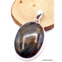 Pendentif Pietersite qualité AAA bleu fauve Pendentifs pierres naturelles PU17.1