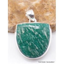 Pendentif Amazonite semi-oval Pendentifs pierres naturelles PU23.1