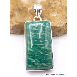Pendentif Amazonite rectangulaire Pendentifs pierres naturelles PU23.2
