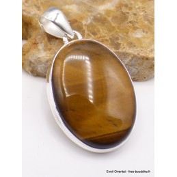 Pendentif Oeil de Tigre stries horizontales Pendentifs pierres naturelles PU25.1