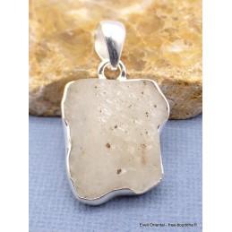 Pendentif asymétrique en Verre de Lybie Pendentifs pierres naturelles PU30.1