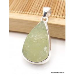 Pendentif Préhnite brute forme goutte Pendentifs pierres naturelles PU19.1