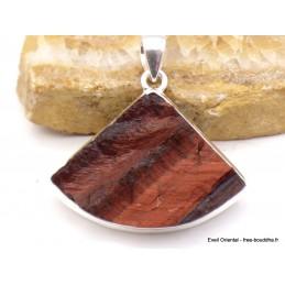 Pendentif en Oeil de Tigre rouge brut trapèze Pendentifs pierres naturelles XV15.5