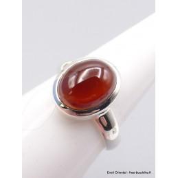 Petite bague Grenat Hessonite ovale taille 55 Bagues pierres naturelles XV60.5