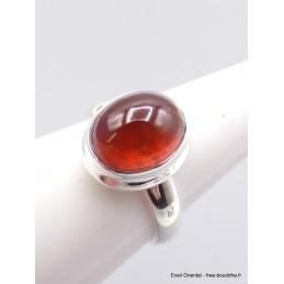 Petite bague Grenat Hessonite ovale taille 57/58 Bagues pierres naturelles XV60.6