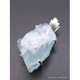 Pendentif en Aigue-marine brute verre d'eau Pendentifs pierres naturelles PU35.2