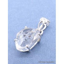Pendentif diamant d'Herkimer bélière ajourée Pendentifs pierres naturelles PU36