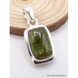 Pendentif Tourmaline Verte rectangulaire Pendentifs pierres naturelles PU37.1