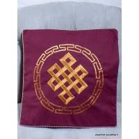 Housse de coussin bouddhiste