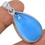 Bijoux en Calcédoine bleue