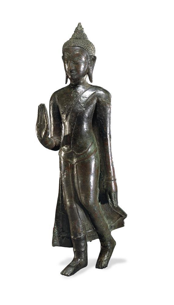 statue bouddha en marche